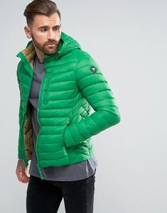 Read more about Puffa short padded jacket with hood - green