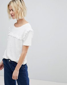 Read more about Suncoo t-shirt with ruffle front - blanc casse