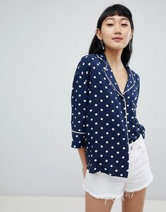 Read more about Pull bear polka dot blouse in navy blue - navy