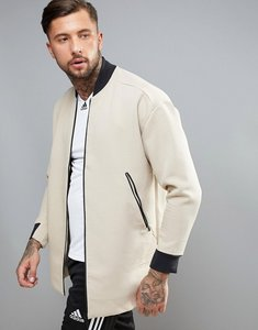 Read more about Adidas training longline bomber in beige bq1336 - beige