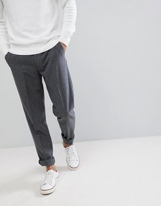 Read more about Farah wool crop lined plain trousers - grey