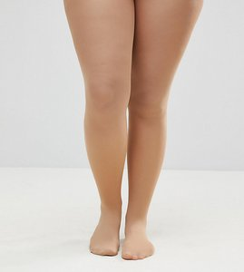 Read more about Asos curve 50 denier nude tights in beige - beige
