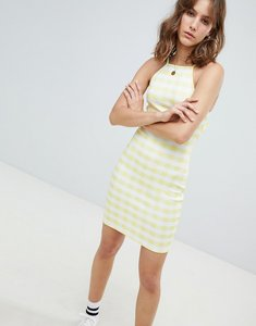 Read more about Heartbreak cami dress in gingham print - yellow