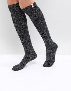 Read more about Hunter original black knee high glitter boot socks - black multi