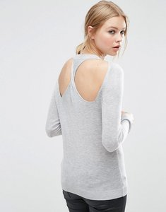 Read more about Asos jumper with twist back - grey