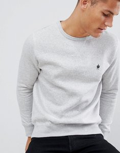 Read more about French connection basic logo crew neck jumper - light grey marl