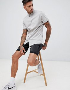 Read more about Asos design stretch slim denim shirt in light grey - light grey
