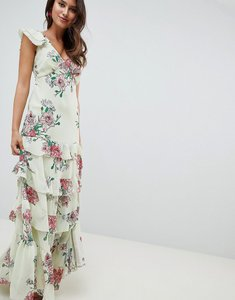 Read more about Asos design tiered ruffle maxi dress in floral print - floral print