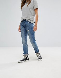 Read more about Levis altered 501 skinny jean with seam detail - moody blues