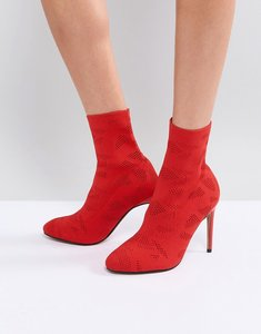 Read more about Asos elyssa knitted sock boots - red