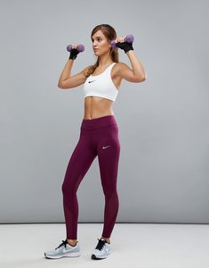 Read more about Nike running power epic lix legging in burgundy - red