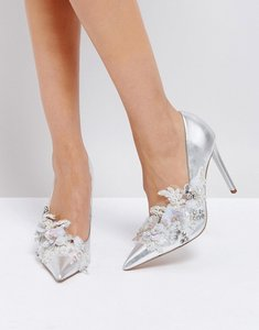 Read more about Asos pavlova embellished high heels - silver