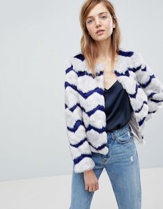 Read more about Unreal fur abracadabra faux fur jacket - grey indigo