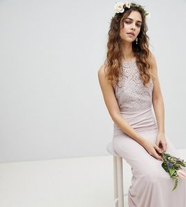 Read more about Tfnc lace up back maxi bridesmaid dress - mink