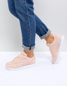 89a03c029e08 reebok classic leather trainers in nude pink - Shop reebok classic ...