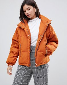 Read more about Y a s hooded padded jacket - orange