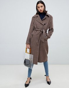 Read more about Selected femme check wool wrap coat - beige