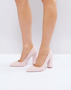 Read more about Raid delora blush pointed block heeled shoes - pink