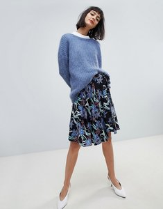 Read more about Pieces floral wrap skirt - multi