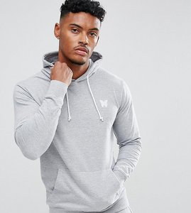 Read more about Good for nothing hoodie in grey with chest logo - grey