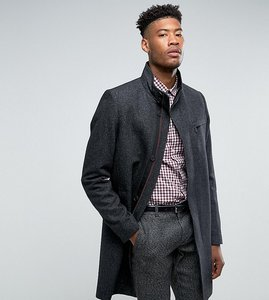 Read more about Ted baker tall funnel neck wool overcoat - 03 charcoal