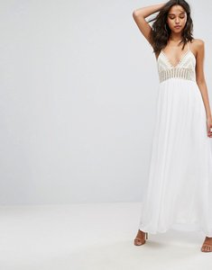 Read more about Missguided crochet top maxi dress - white
