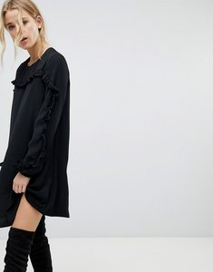 Read more about Pimkie ruffle detail shift dress - black