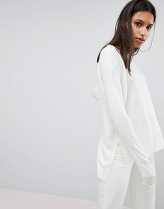 Read more about Noisy may longline knitted jumper - white