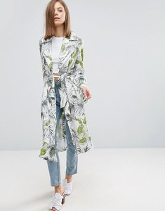 Read more about Asos soft coat in tropical palm print - multi