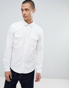 Read more about Asos design skinny denim western shirt in white - white