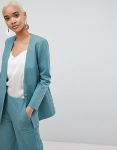 Read more about Selected 80 s blazer with gold button - teal