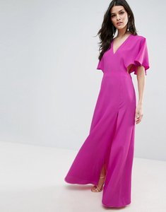 Read more about Asos open side kimono sleeve maxi dress - hot pink
