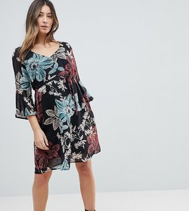 Read more about Mamalicious botanic printed dress with frill sleeve - aop flower