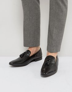 Read more about Kg by kurt geiger march tassel loafers in black leather - black