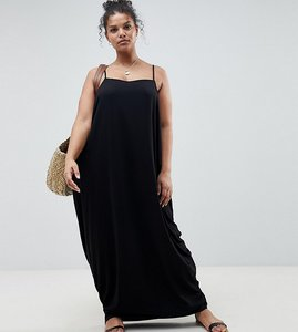Read more about Asos design curve tab back drape hareem maxi dress - black