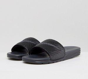 Read more about Nike benassi sliders in black 705474-091 - black