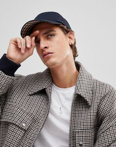 Read more about Aquascutum rebel club check baseball cap in navy - navy