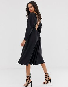 Read more about Asos edition lattice back midi dress in satin