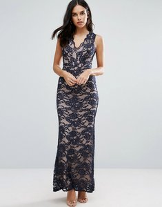 Read more about Jessica wright lace fishtail maxi dress - black
