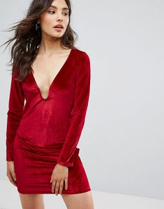 Read more about Oeuvre velvet dress - red