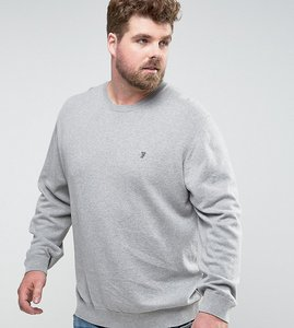 Read more about French connection plus crew neck knitted jumper - grey