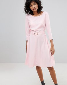 Read more about 2nd day ring belted midi dress - pink