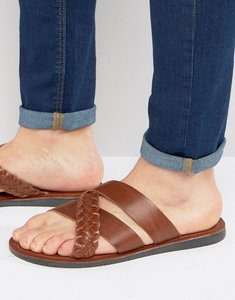 Read more about Red tape woven slider sandals - tan