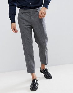 Read more about Farah cropped trousers in wool mix slim fit - grey