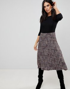 Read more about Traffic people 2-in-1 textured midi dress - black purple