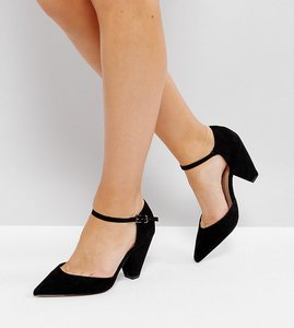 Read more about Asos speaker wide fit pointed heels - black