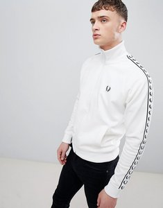 Read more about Fred perry sports authentic taped track jacket in white - 303