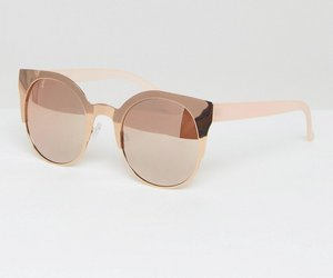 Read more about Asos half kitten metal sunglasses with rose gold flash lens - rose gold
