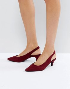 Read more about New look high vamp slingback shoe - red