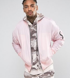 Read more about Other uk oversized bomber jacket - pink